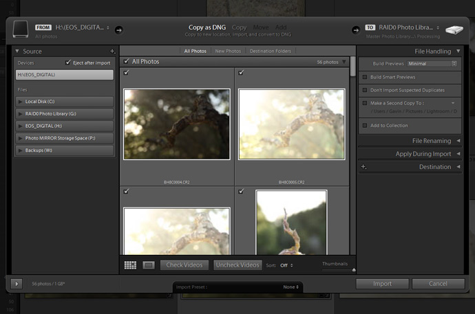 Lightroom CC / 6 Changes to Copy asDNG